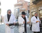 Cremona acchiappafantasmi in azione in centro città