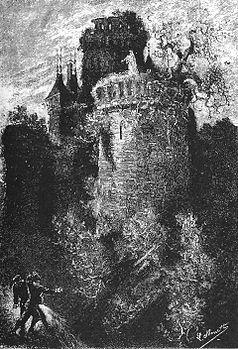 Il castello dei Carpazi. Illustrazione di Leon Bernett dall'edizione del romanzo del 1892