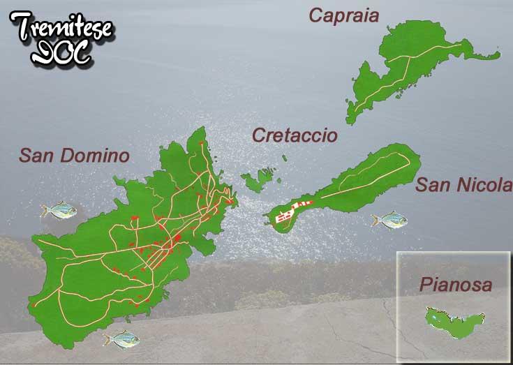 Cartina Puglia Isole Tremiti.Le Isole Tremiti Fg