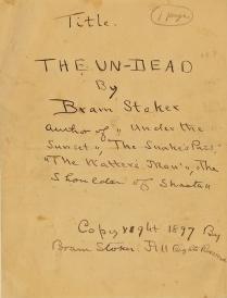 Il manoscritto di Dracula di Bram Stoker