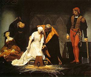 l' Esecuzione di Jane Grey di Paul Delaroche, che potete ammirare nella National Gallery di Londra.