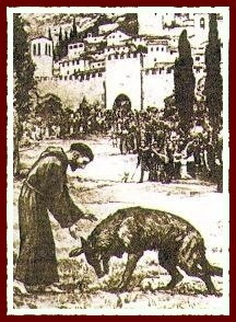 S. Francesco con Frate Lupo a Gubbio