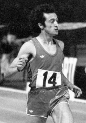 Pietro Mennea in a race in Viareggio, Italy in 1972
